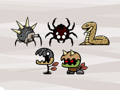 2d Game Asset Vicious Monster Sprites