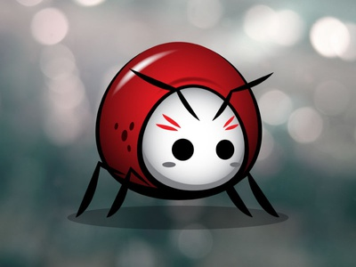 Little Red Beetle Bug Game Asset