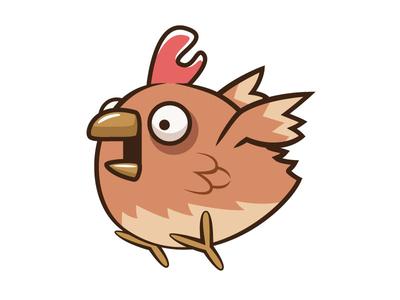 Panic Chicken vector character sprites asset game chicken