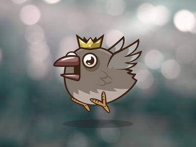 Bird King video chicken bird 2d illustrator game asset video game flappy bird