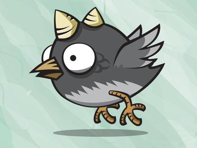 Thorn Bird Game Asset vector cartoon 2d bird game asset flappy bird