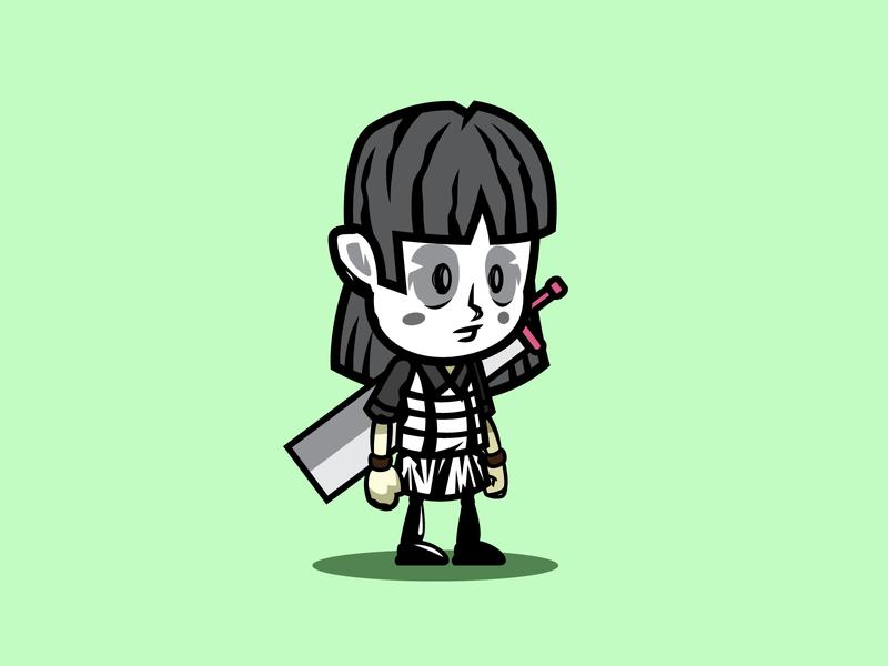 pantomime girl game asset