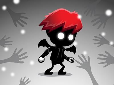 2D Game Asset - Demon Kid Sprite demon game asset kid game asset game asset limbo kid sprite demon sprite