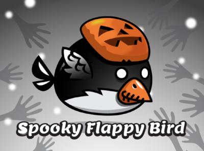 Spooky Flappy Bird halloween pumpkin mask penguin flappy bird sprite flappy sprite helloween bird halloween bird