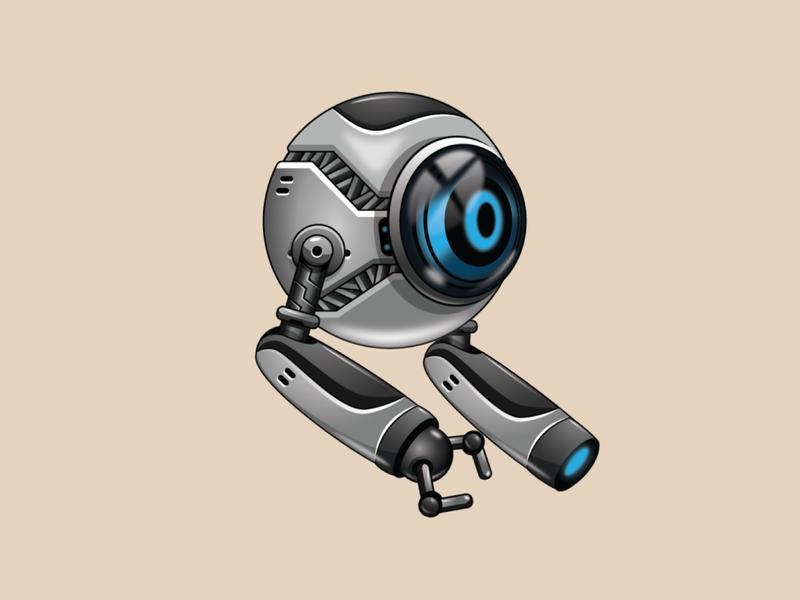 One eye robot game asset sprites character robotic cyborg android machine bot camera eye character sprites asset game robot