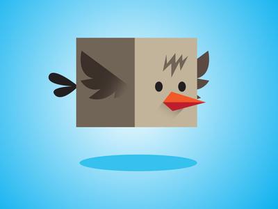 Flappy Box Bird Game Asset gamedev gamer game simple flat flappy bird bird flappy