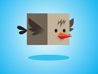 Flappy Box Bird Game Asset