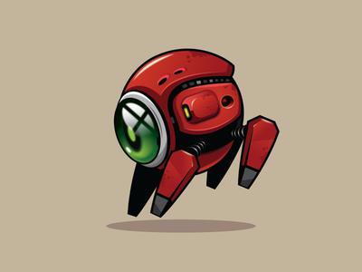 Red Metal Robot Sprites