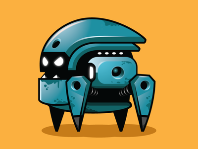 Blue Robot Sprites for Game Dev robot animation robot character robot game asset robot sprites blue robot