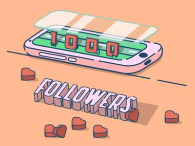 1k followers on instagram!!