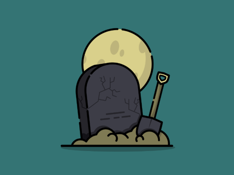 Freshly burried😂 illustration illustrator midnight icon icons halloween tombstone colors vectors vector designs logo design