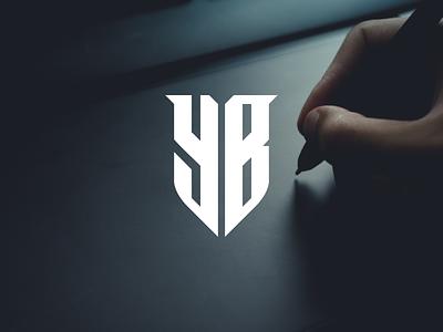 YB monogram la lakers company logo losangeles miami american football team texas design vector mark logomark icon lettering monogram logo