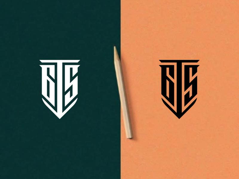 GTS Monogram ship logo shield manchester united liverpool fc texas logos design branding vector logomark icon lettering logo monogram
