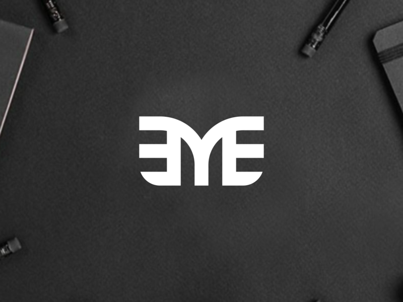 EYE Monogram eyes florida losangeles las vegas texas europe logos design branding mark vector icon logomark lettering logo monogram