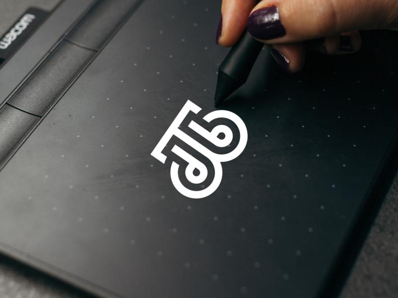 DTJ Monogram illustration logos design branding vector icon logomark lettering logo monogram