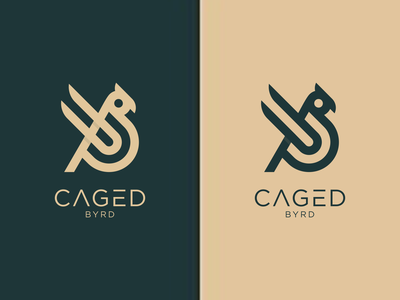 Caget Bird typography illustration design europe texas branding vector logomark lettering logo monogram