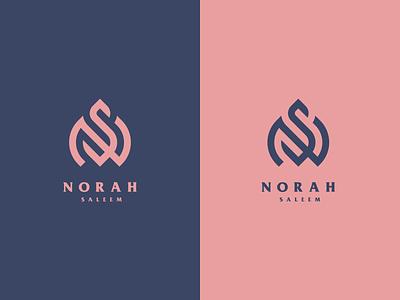 NS for Noral al Salem australia austin florida arab arabic logo dubai europe texas illustration logos branding vector logomark lettering logo monogram