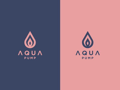 AQUA PUMP europe texas mark branding vector icon logomark lettering logo monogram