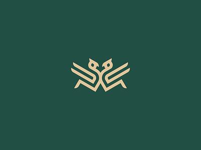 BIRDS usa america asia australian logos illustrator illustration europe texas branding vector logomark lettering logo monogram