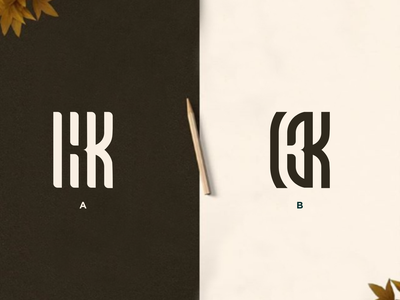 KK Monogram florida canada australia austria mark ui icon logos illustration typography illustrator branding design europe texas vector logomark lettering logo monogram