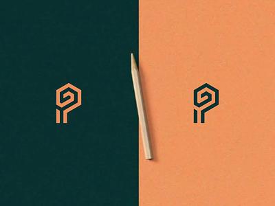 GP Monogram ux ui logos texas mark illustration design icon branding vector logomark lettering logo monogram