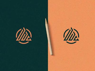DDC Monogram design illustration company logo motion graphics miami m leangles newyork florida branding icon vector logomark lettering logo monogram