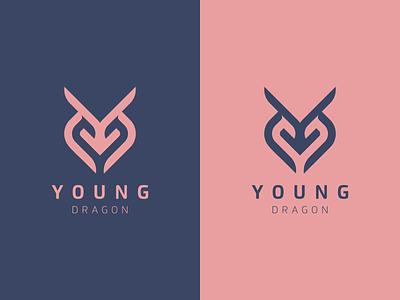 YOUNG DRAGON company logo company europe losangles newyork florida motion graphics graphic design 3d animation ui illustration design branding icon vector logomark lettering logo monogram
