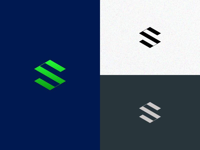 S monogram flatdesign typography mark vector design lettering illustrator branding icon logo