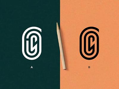 GLS MONOGRAM app logotype illustrator branding vector illustration mark logomark lettering logo monogram