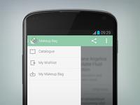 Android side navigation drawer