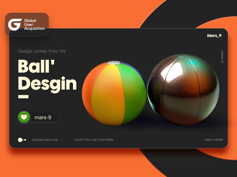 Ball Desgin 图标 品牌 插图 设计 ui