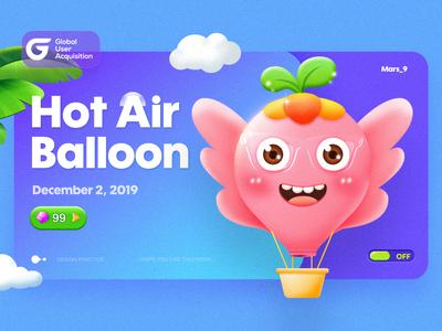 Lovely hot air balloon