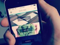 Kapuno - Mobile Concept - Categories