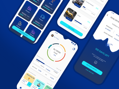 Android App - Money Manager App budget app budget budget tracker app design goals money management android app mobile design finance app ux ui money app mobile app design android