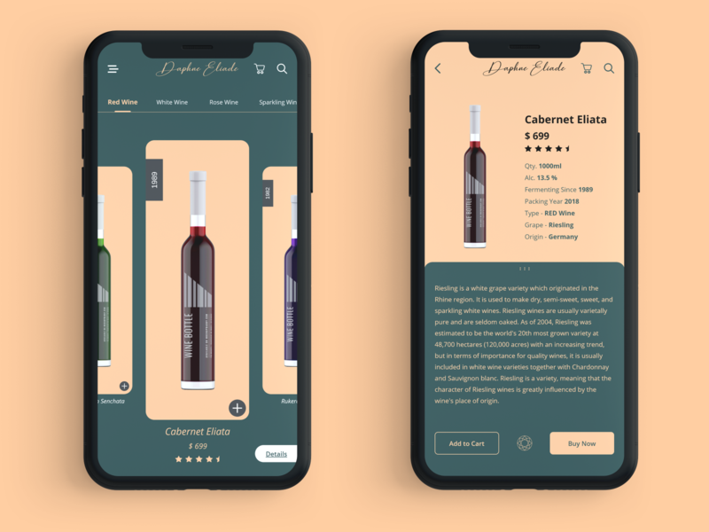 Daphne Eliade mobile ui typography app concept app design mobile debut shot phone app iphone x color minimal branding ux flat app ui design
