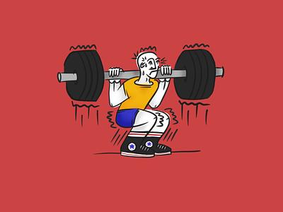 Skwaat lifting lift squat workout digital drawing digital art procreate drawing illustration design