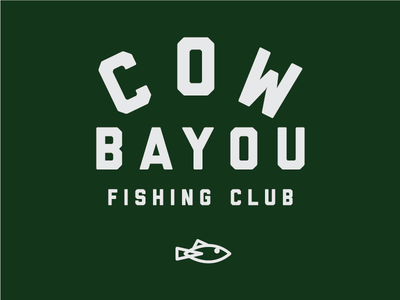 Cow Bayou Fishing Club club fishing fish design lettering illustration typography