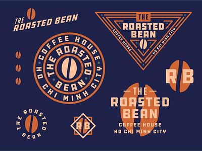 The Roasted Bean the roasted bean coffee bean type coffee lettering badge daily logo challenge dailylogochallange daily logo symbol typography vector mark logo design icons branding logo illustration design