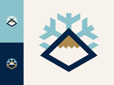 Brass Peak Ski Slopes brass snowboard skiing ski snowflake snow mountain daily logo challenge dailylogochallange daily logo icon symbol vector mark logo design icons branding logo illustration design