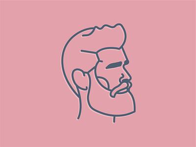 Bob the Barber barbershop haircut daily logo design daily logo challenge daily logo barber beard branding and identity branding concept branding design line illustration line work line art branding logo symbol vector mark illustration design