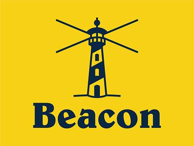 Beacon lighthouse logo a day logo concept branding and identity branding concept branding design dailylogochallenge daily logo design icon daily logo challenge daily logo logo design branding logo symbol mark vector illustration design
