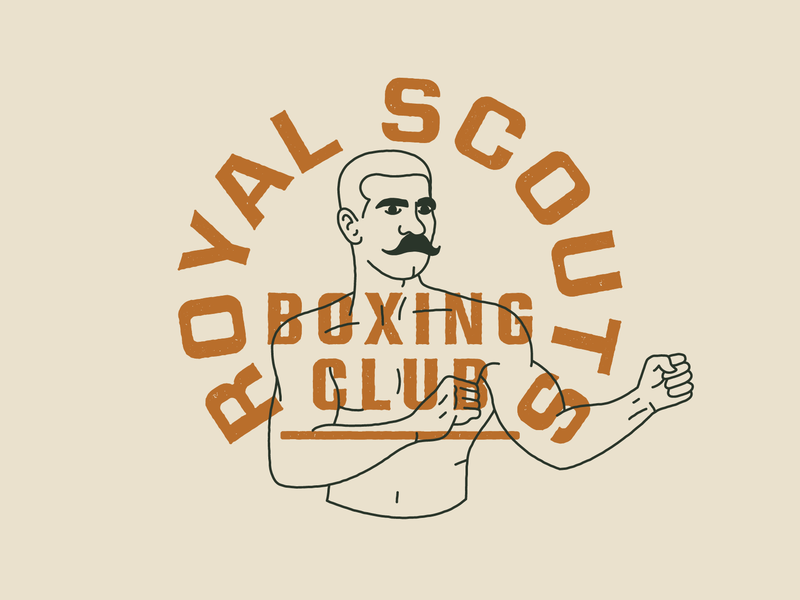 Royal Scouts Boxing Club dailylogochallenge branding and identity branding concept branding design scouts royal boxing club boxing type daily logo challenge daily logo logo design branding typography logo symbol mark vector illustration design