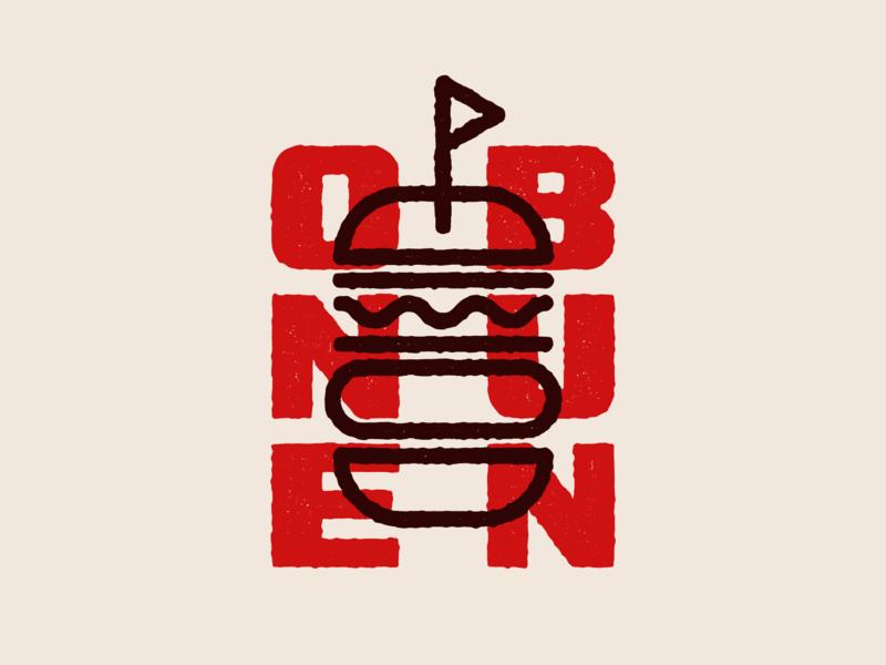 One Bun branding design branding and identity branding concept bun burgers burger logo burger icon daily logo challenge daily logo logo design type branding typography logo symbol mark vector illustration design