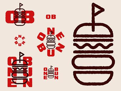 One Bun branding concept branding design dailylogochallenge bun burger logo burgers burger icon daily logo challenge daily logo logo design type branding typography logo symbol mark vector illustration design