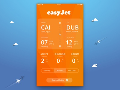 EasyJet airlines app redesign