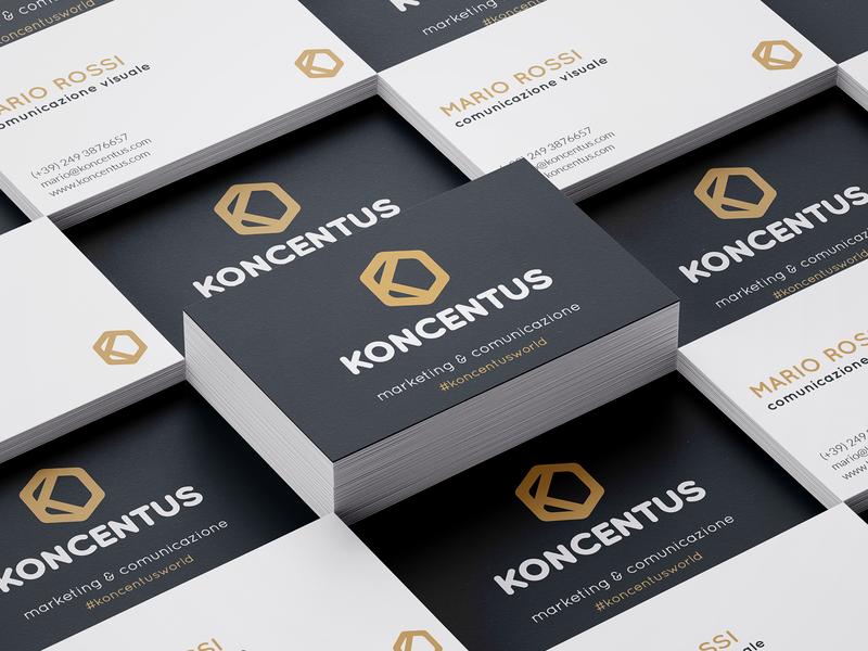 Koncentus Business Card identity design brand design brand identity branding design branding and identity branding card business card