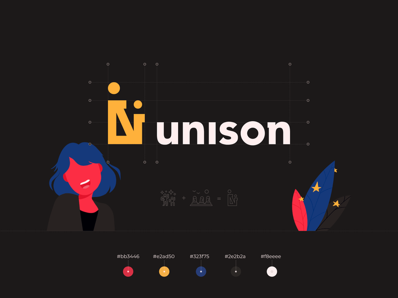 Unison - a worldwide dance school concept company style guide typeface typography promo color palette styleguide logotype logo design logo brand guide brand book branding brand identity brand