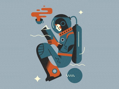 A need for space to read (PSE '21) graphic design character grain editorial illustration