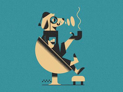 Dog's life - hard life (PSE '21) animals character grain graphic design editorial illustration