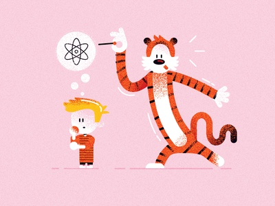 Calvin and Hobbes (tribute to C&H & Mendeleev'16)